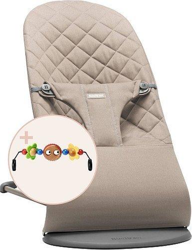 BABYBJORN - leżaczek BLISS - Piaskowy szary + Zabawka