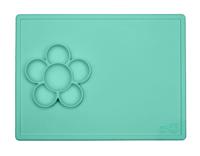 EZPZ - Silikonowa mata do zabawy z pojemniczkami 2w1 Flower Play Mat miętowa