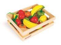 Janod - Owoce drewniane 12 szt. w skrzyneczce