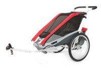 Przyczepka rowerowa dla dziecka, podwójna - THULE Chariot Cougar 2 - czerwona