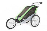 THULE Chariot Cheetah 1 zielony, pojedynczy wózek do biegania + zestaw rowerowy