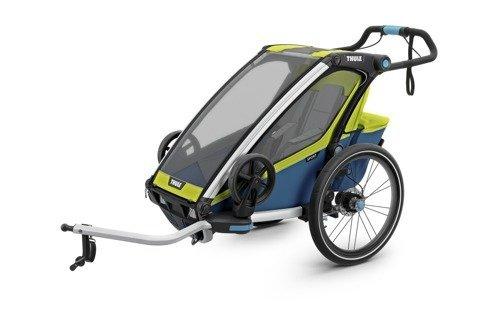 THULE Chariot Sport 1, przyczepka rowerowa dla dziecka - zielonyniebieski