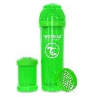 Twistshake - Antykolkowa butelka do karmienia, zielona 330ml