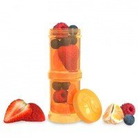 Twistshake - Pojemnik 2x100ml Pomarańczowy