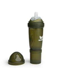 Herobility - butelka antykolkowa Herobottle 240 ml, ciemnozielony