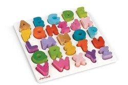 Janod - Alfabet puzzle drewniane