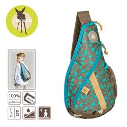 Lassig - Plecak na Jedno Ramię Dino slate
