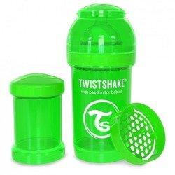 Twistshake - Antykolkowa butelka do karmienia, zielona 180ml