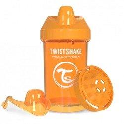 Twistshake - Kubek niekapek z mikserem do owoców, pomarańczowy 300ml