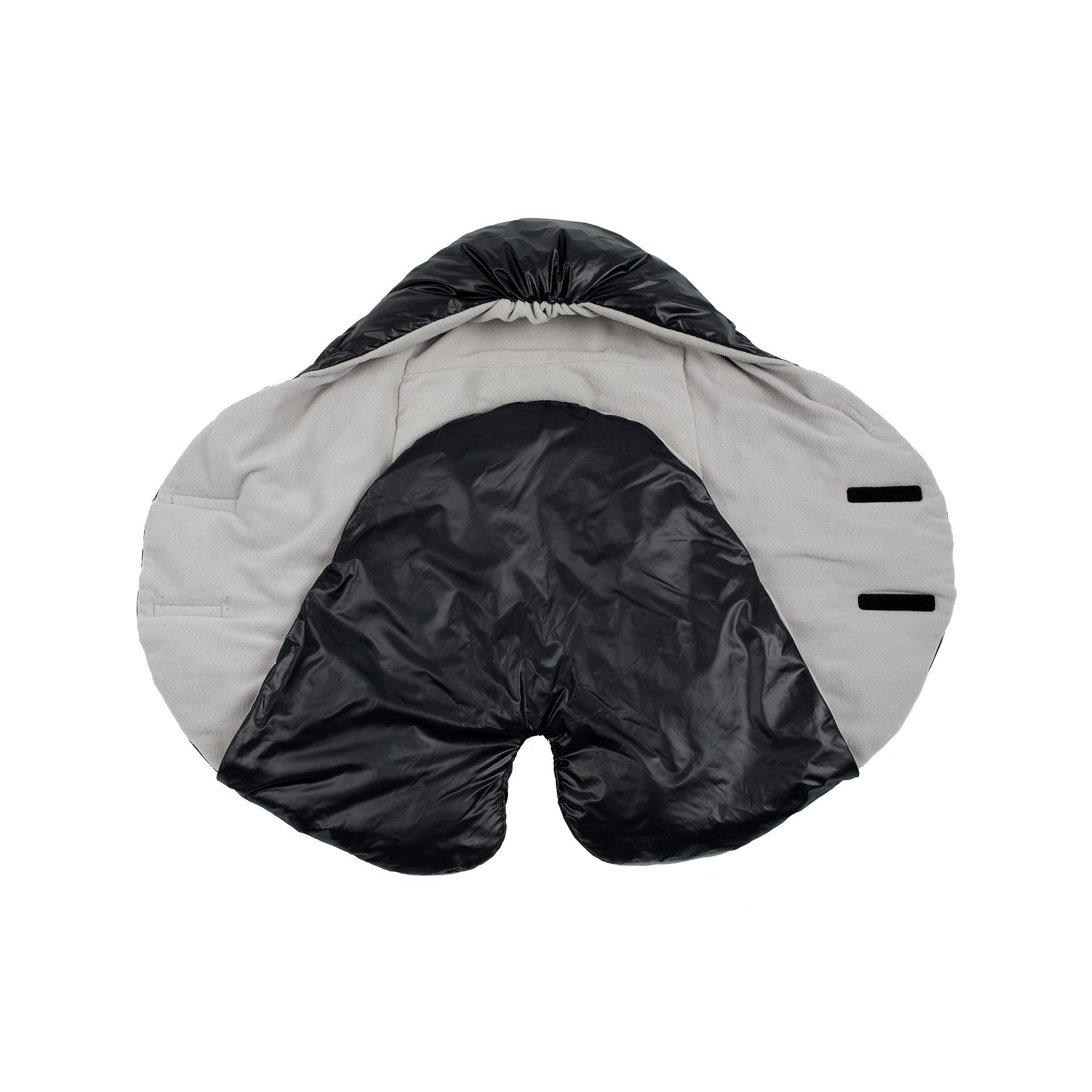 7AM - Śpiworek do wózka i fotelika samochodowego NIDO Black L