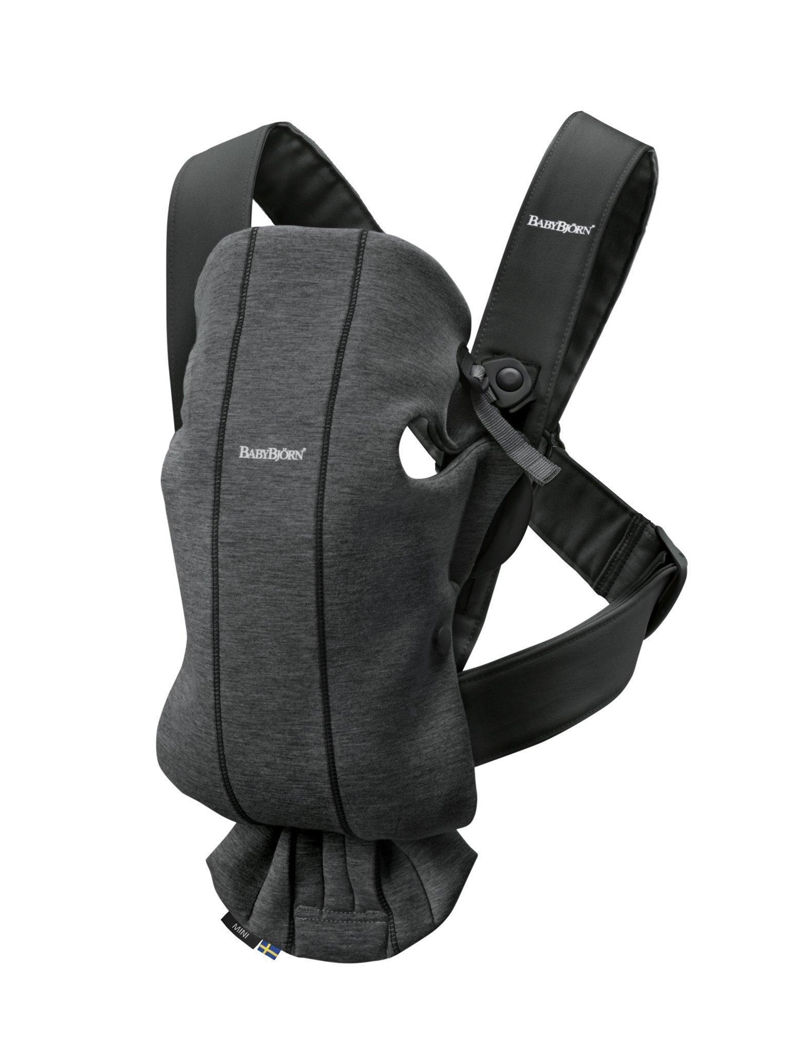 BABYBJORN MINI 3D Jersey – nosidełko, Szaroczarny
