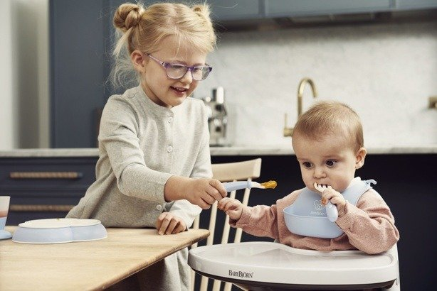 BABYBJORN - Zestaw obiadowy - Powder Blue