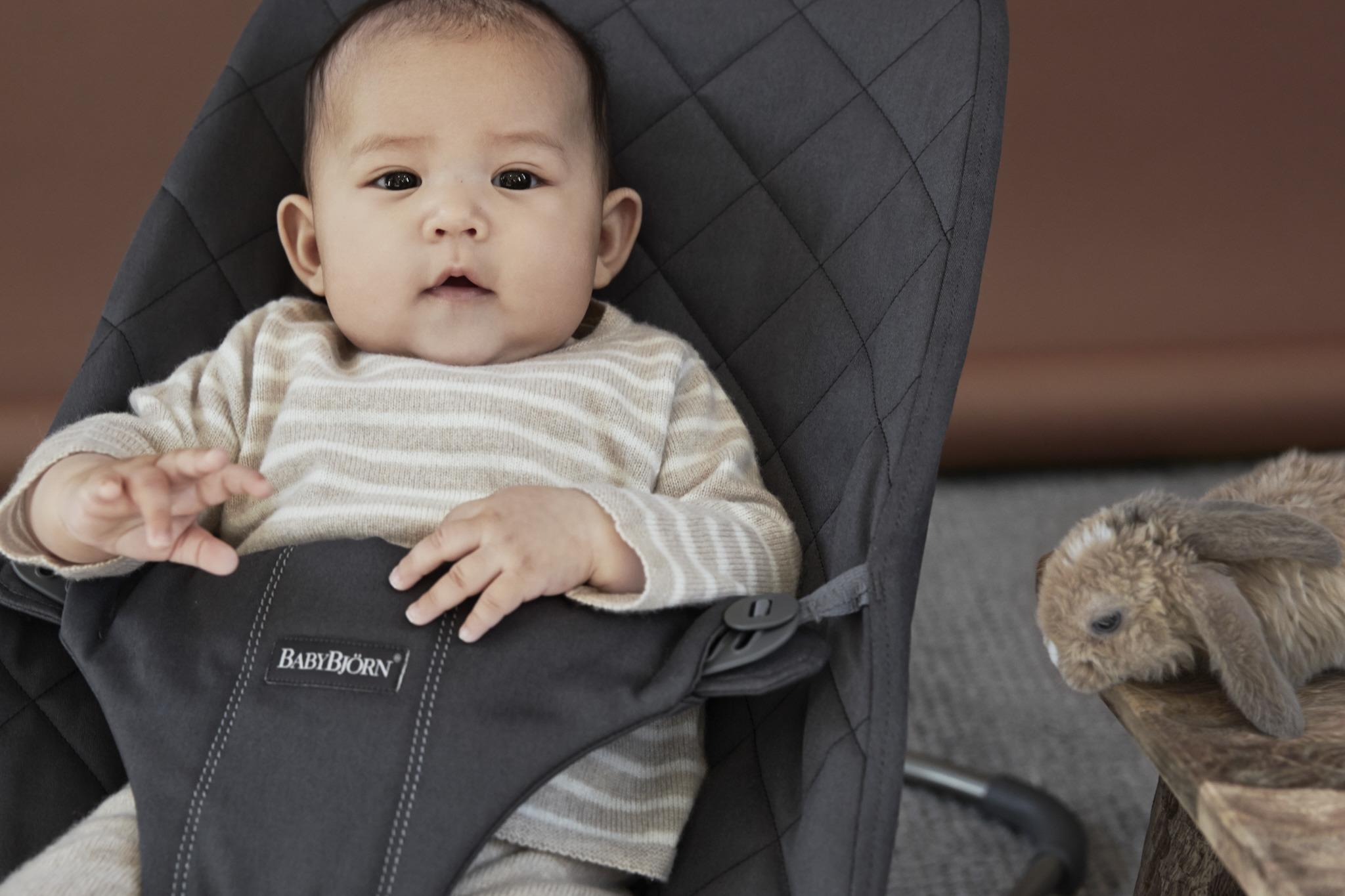 BABYBJORN - leżaczek BLISS - Antracytowy