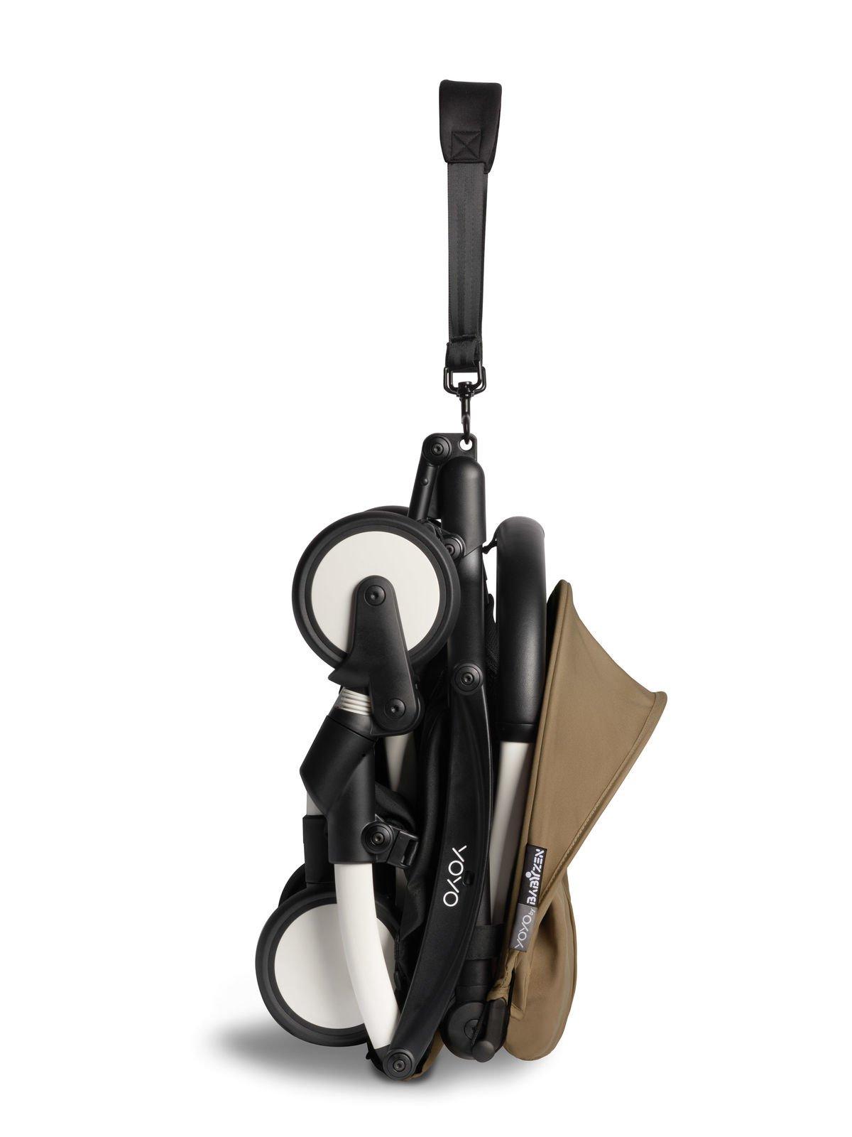 BABYZEN YOYO² - kompletny zestaw biała rama/gondola/ tapicerka 6+ - Toffee