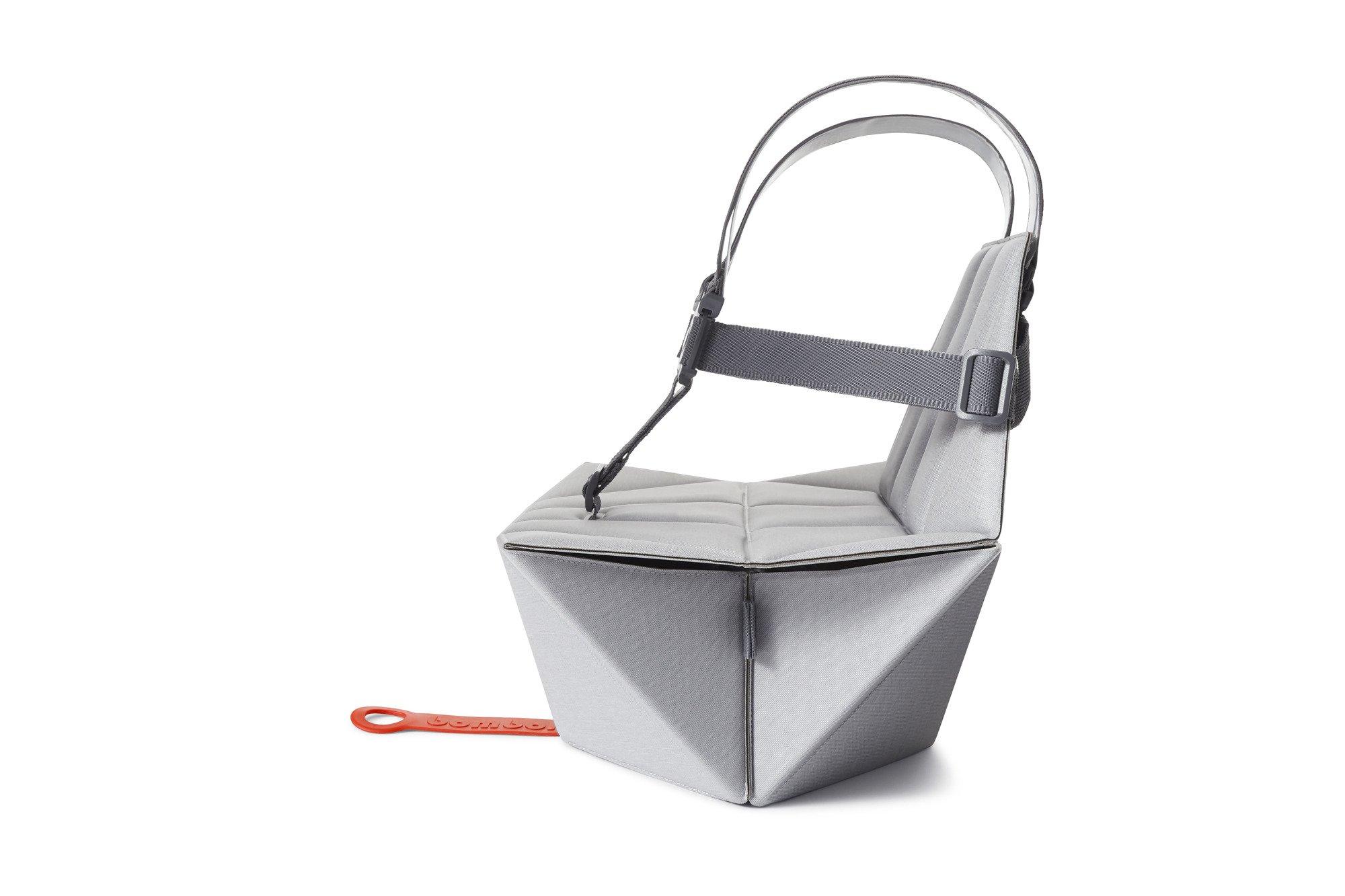BOMBOL składana nakładka na krzesło - szara