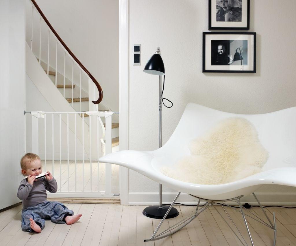 Baby Dan - Bramka ochronna PREMIER + 4 rozszerzenia, biały