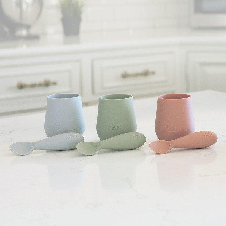 EZPZ - Silikonowy kubeczek Tiny Cup, pastelowa zieleń
