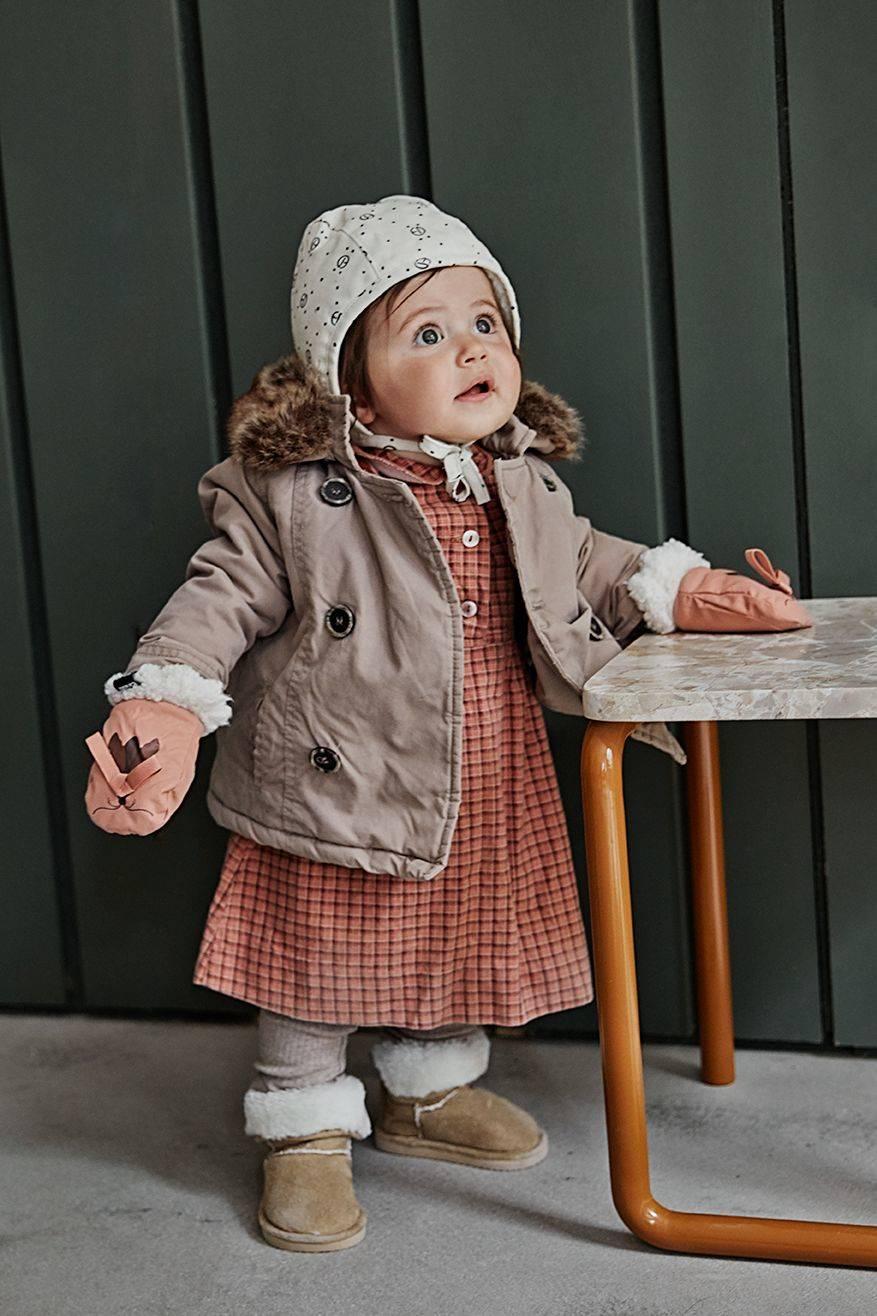Elodie Details - Czapka Winter Bonnet - Monogram -  3-6 m-cy