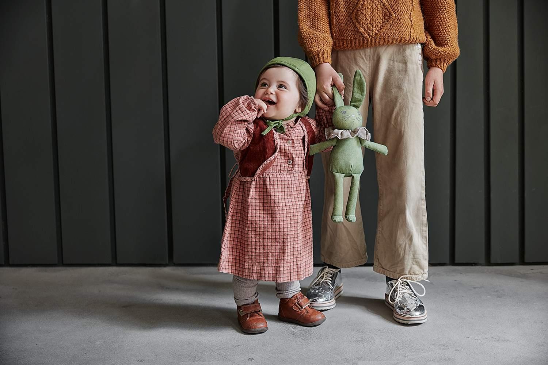 Elodie Details - Czapka Winter Bonnet - Popping Green 3-6 m-cy
