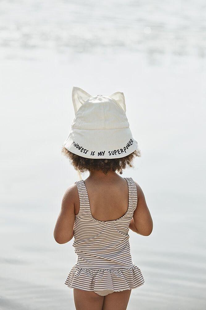 Elodie Details - Kapelusz przeciwsłoneczny - Vanilla White (Change the world) 6-12 m-cy