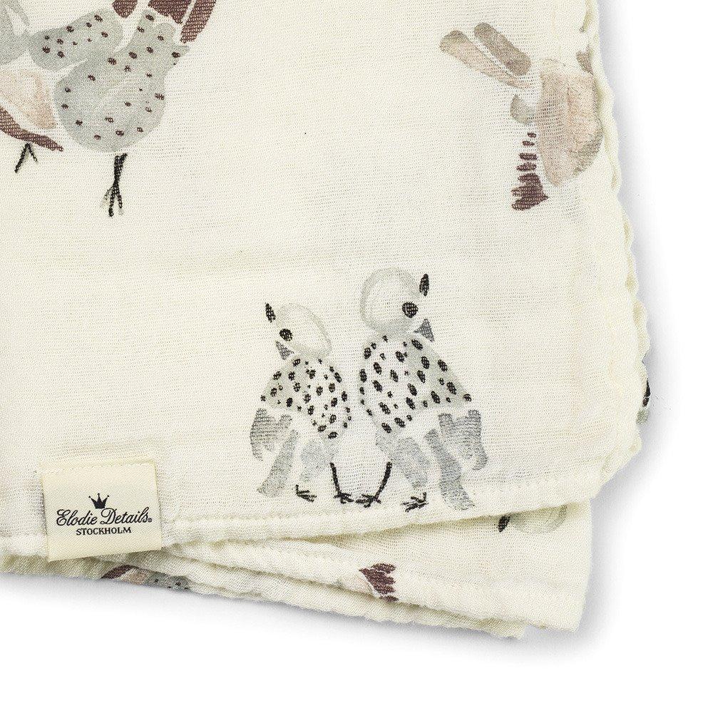 Elodie Details - Kocyk bambusowy - Feathered Friends