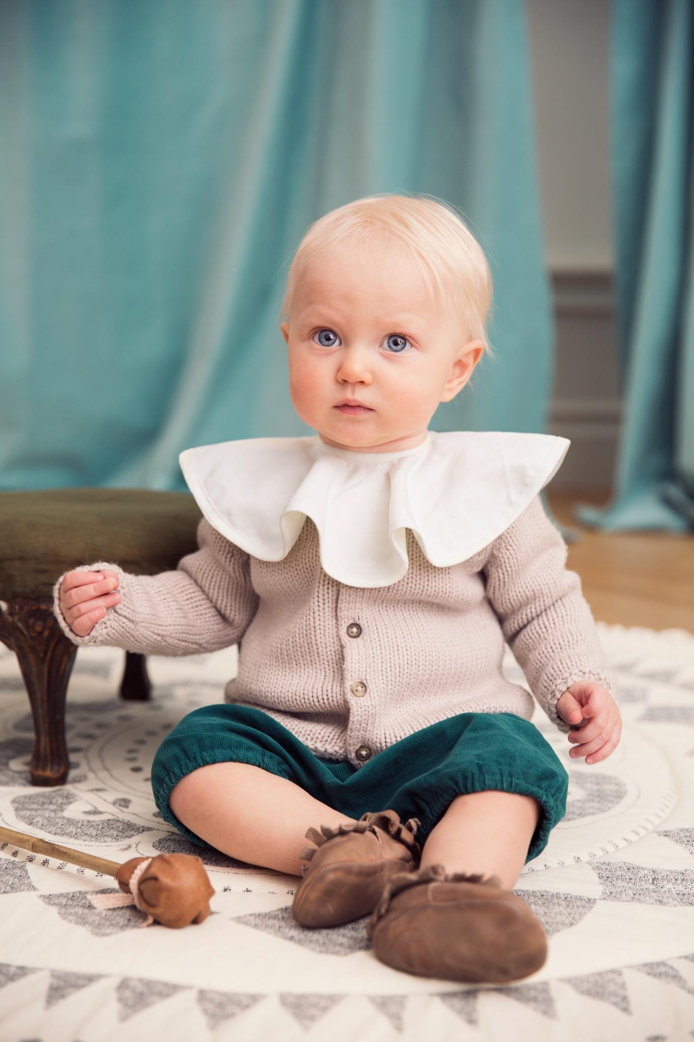 Elodie Details - śliniak Pierrot Vanilla White