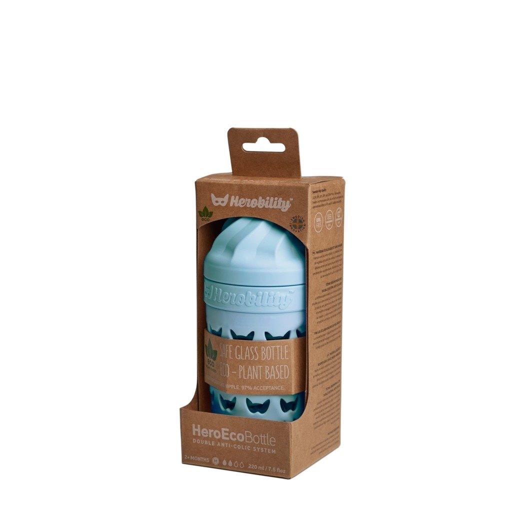 Herobility - butelka antykolkowa HeroEcoBottle - niebieska, 220 ml