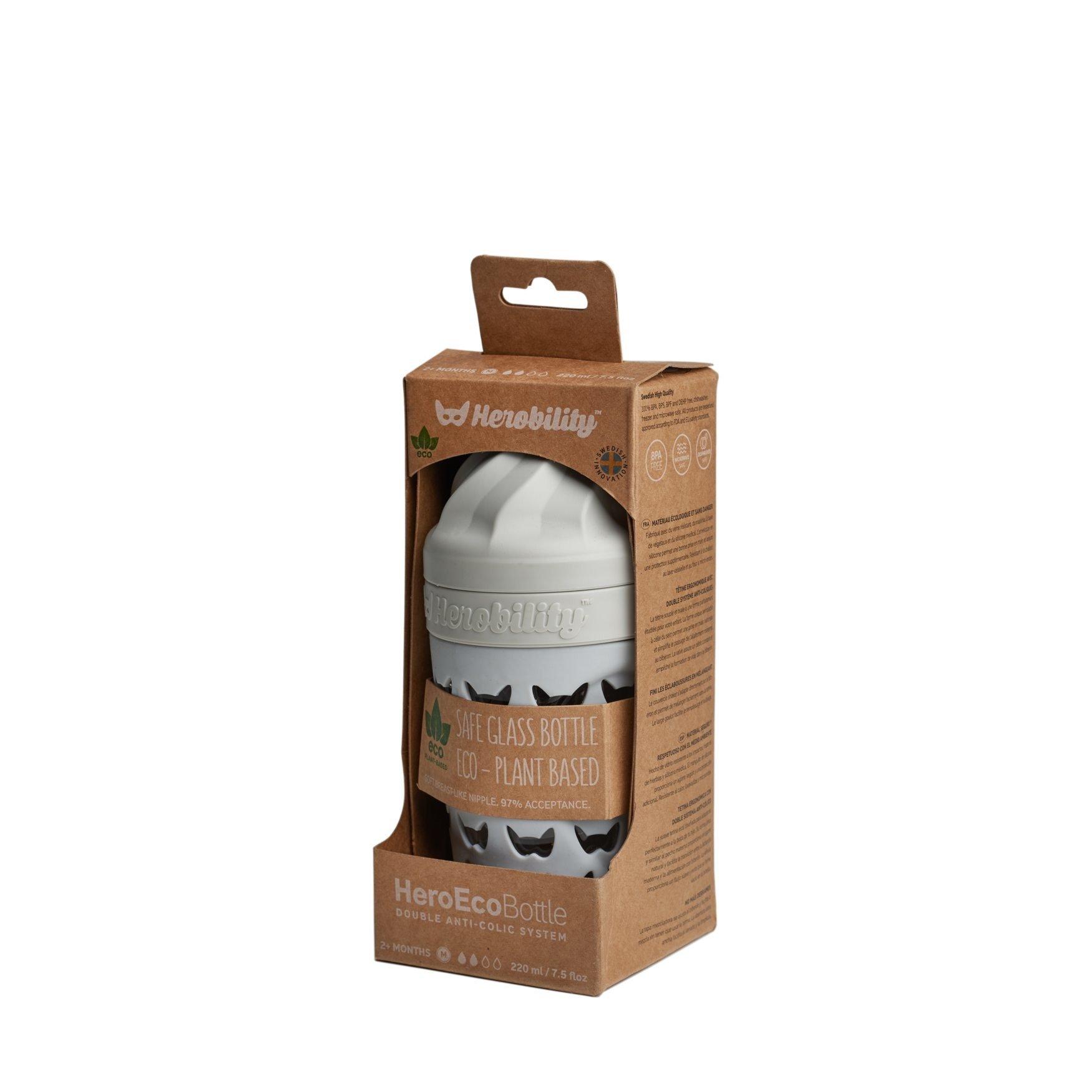 Herobility - butelka antykolkowa HeroEcoBottle - szara, 220 ml