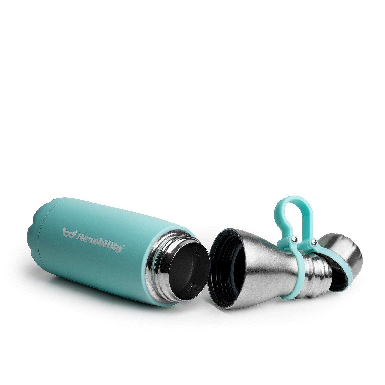 Herobility - butelka termiczna HeroGo 500ml - turkusowa