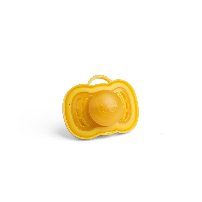 Herobility - smoczek uspokajający HeroPacifier, 6 m+, musztardowy