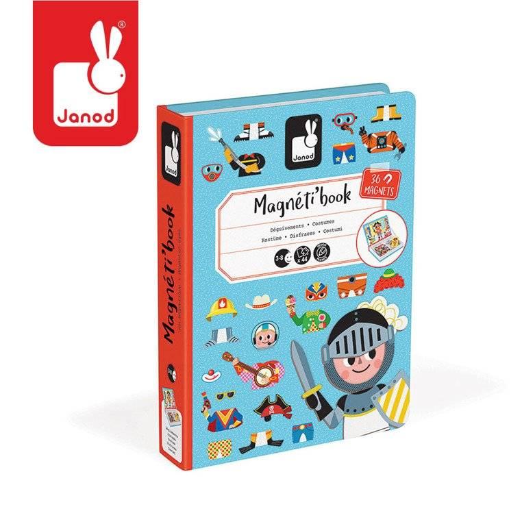 Janod – Magnetyczna układanka Kostiumy Chłopiec Magnetibook kolekcja 2018