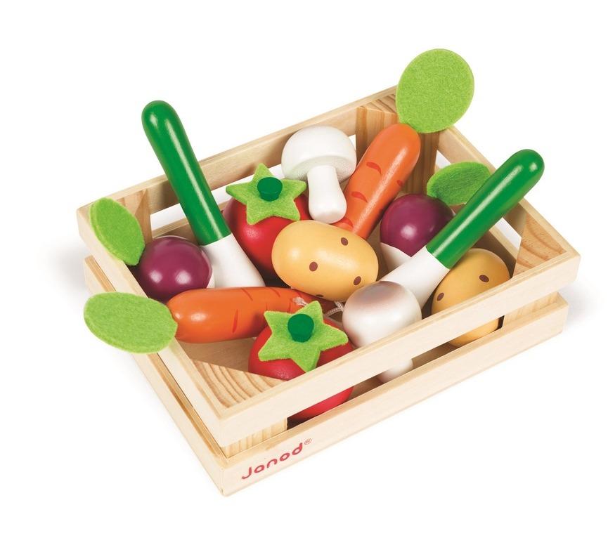 Janod - Warzywa drewniane 12 szt. w skrzyneczce