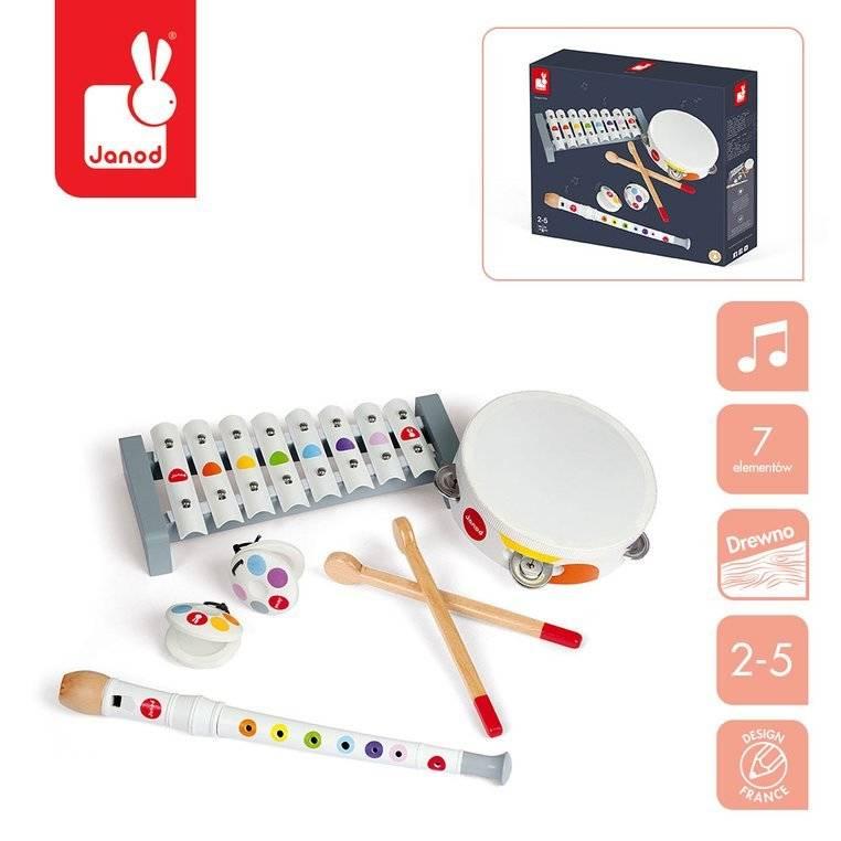 Janod - Zestaw instrumentów Confetti
