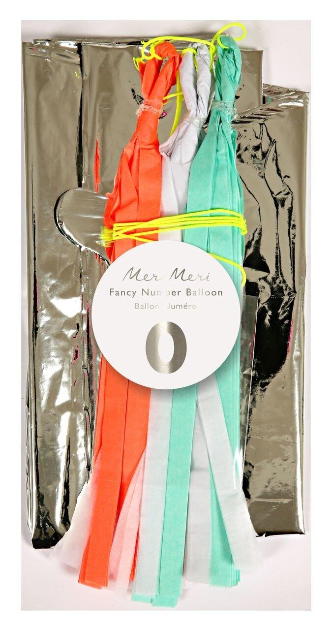 Meri Meri – Balon Cyfra 0 Srebrny