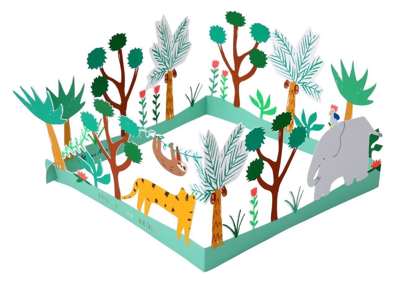 Meri Meri – Mega kartka okolicznościowa 3D Dżungla