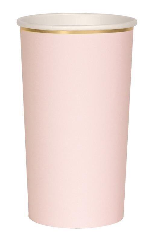 Meri Meri - Wysokie kubeczki różowe