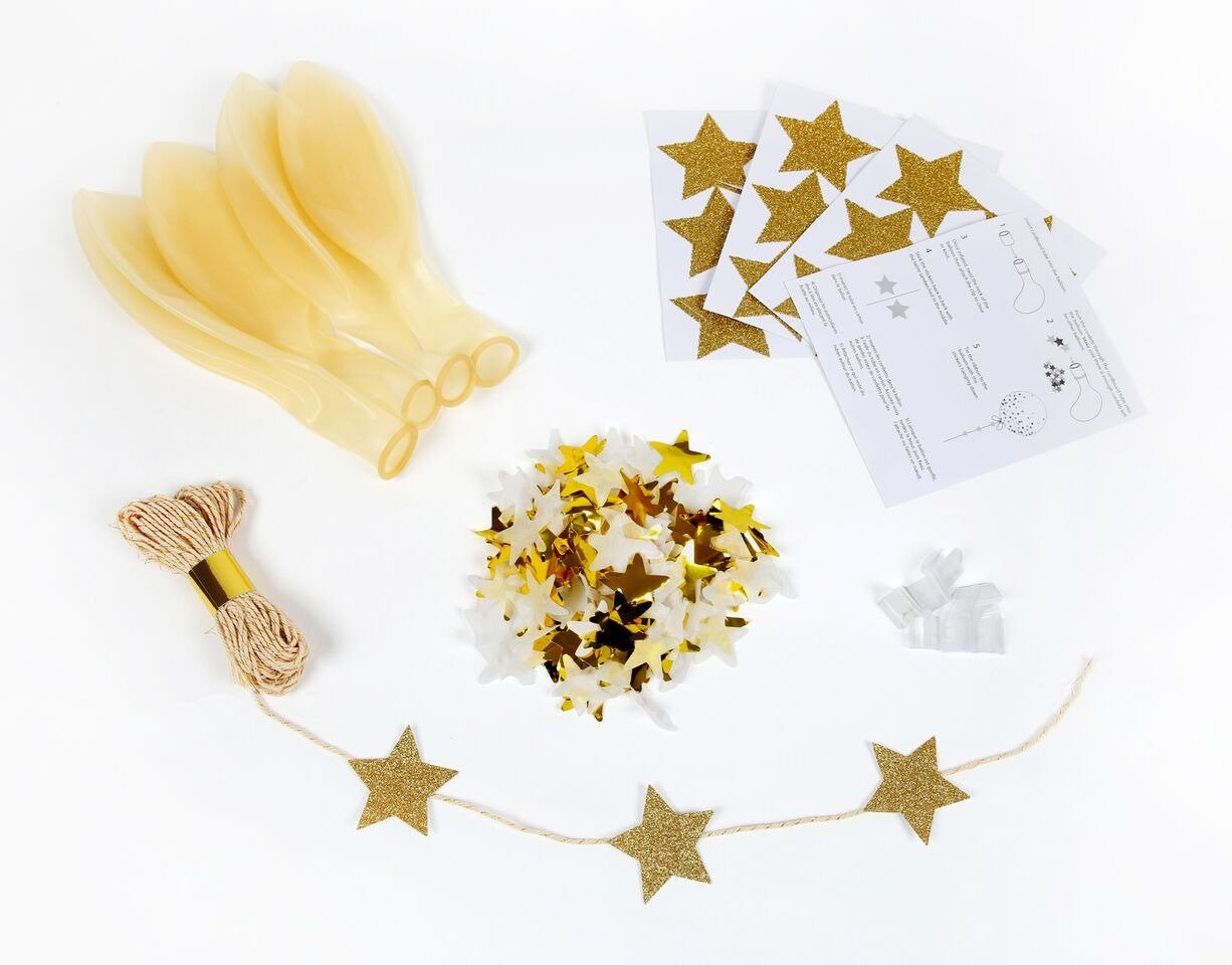 Meri Meri – Zestaw balonów Konfetti złote