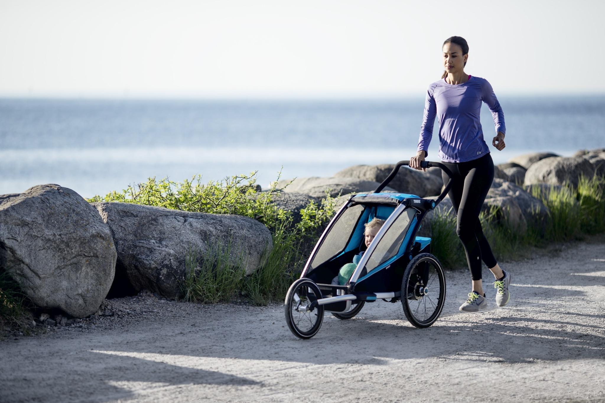 Przyczepka rowerowa dla dziecka - THULE Chariot Sport 1 - Czarna