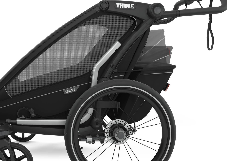 Przyczepka rowerowa dla dziecka - THULE Chariot Sport 2 - Midnight Black