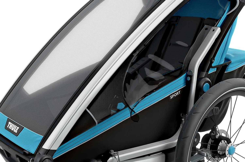Przyczepka rowerowa dla dziecka - THULE Chariot Sport 2 - niebieska/czarna