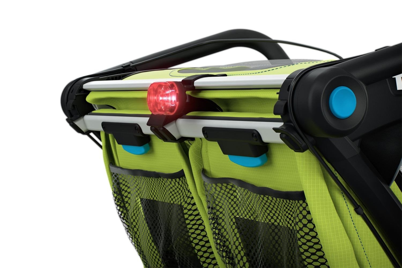 Przyczepka rowerowa dla dziecka - THULE Chariot Sport 2 - zielona/niebieska
