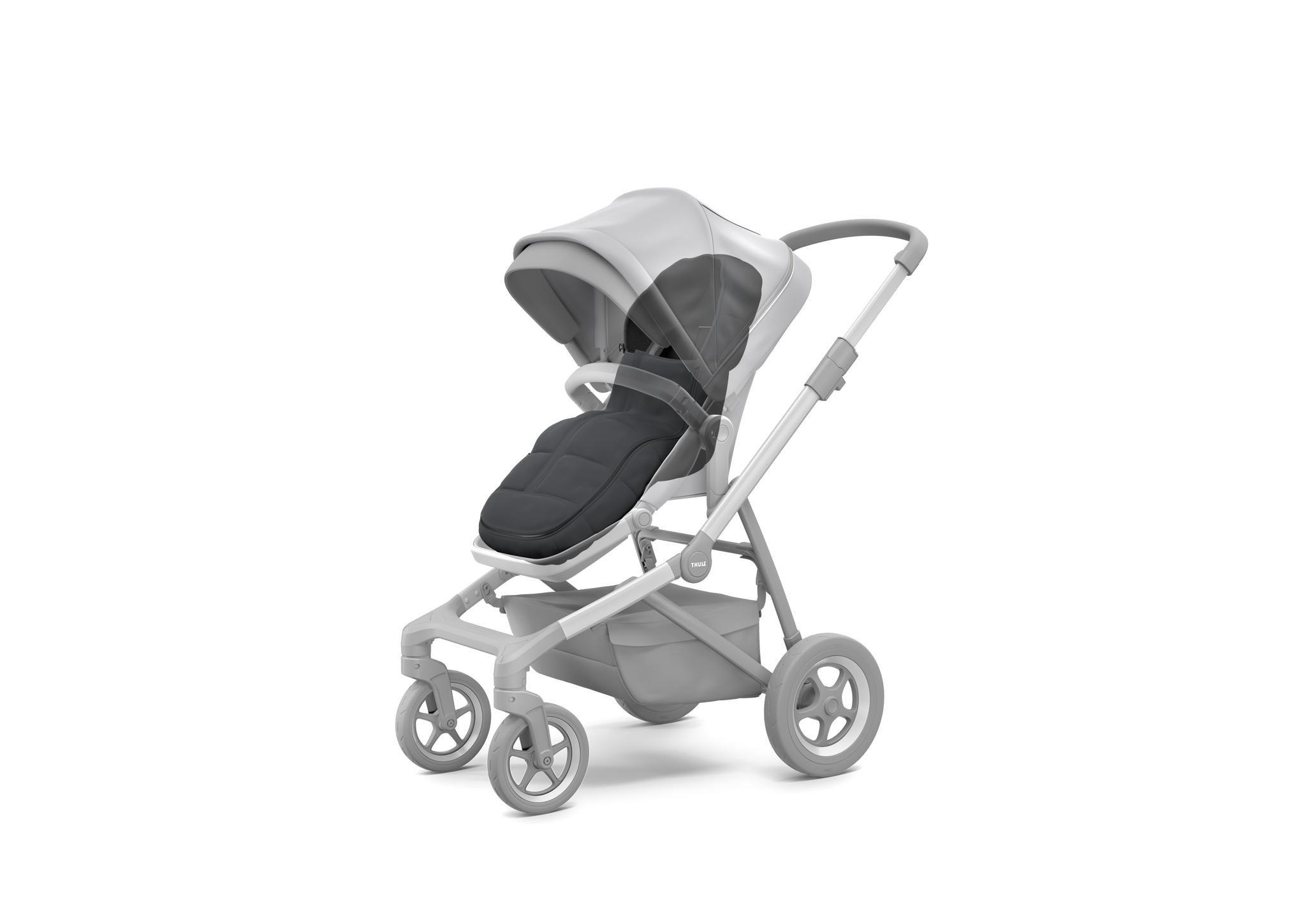 Thule Sleek/Spring/Urban Glide/Glide - śpiworek do wózka - Shadow Grey