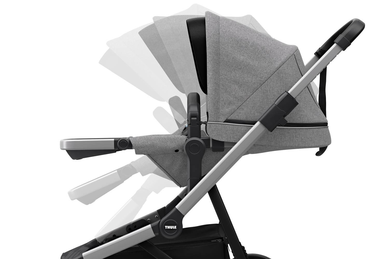 Wózek głęboko spacerowy Thule Sleek Grey Melange