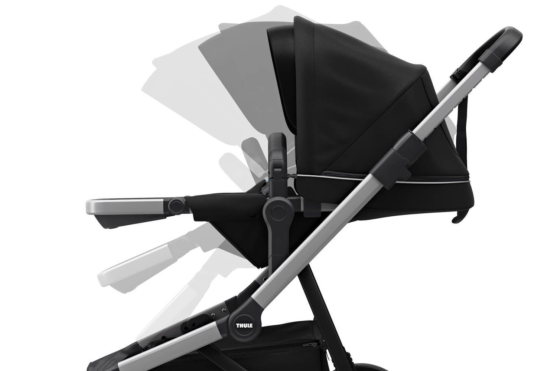 Wózek głęboko spacerowy Thule Sleek Midnight Black
