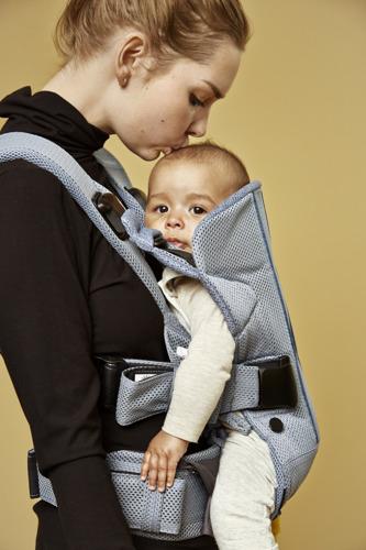 BABYBJORN ONE AIR - nosidełko ergonomiczne, Niebieski