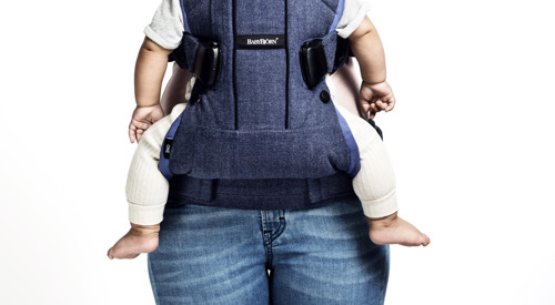 BABYBJORN ONE - nosidełko ergonomiczne, niebieski