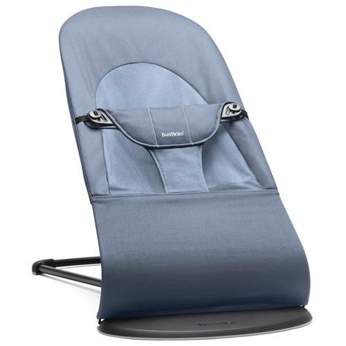 BABYBJORN - leżaczek BALANCE SOFT - Niebieski
