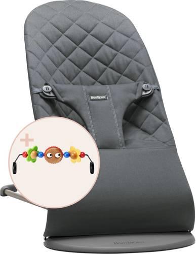 BABYBJORN - leżaczek BLISS - Antracytowy + zabawka do leżaczka BALANCE Googly Eyes
