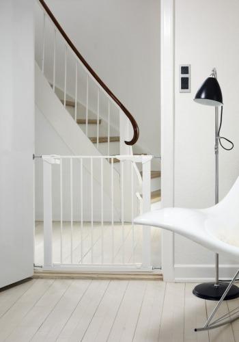 Baby Dan - Bramka ochronna PREMIER + 2 rozszerzenia, biały