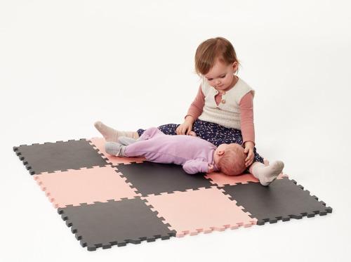 Baby Dan – Mata piankowa do zabawy, różowa